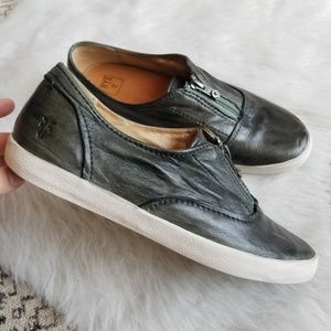 FRYE Dylan Zipper Slip On Leather Sneaker Wm's 8
